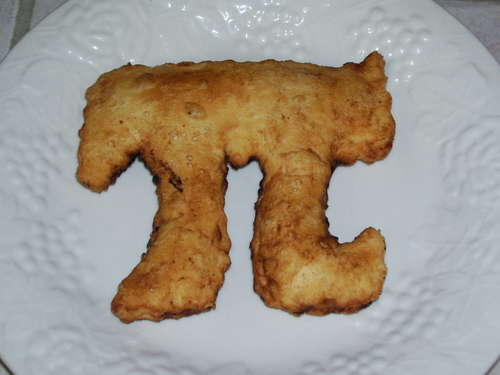 a pie in the shape of Pi