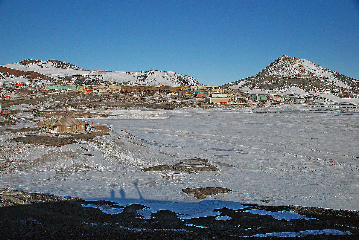 Discovery Hut near McMurdo Station in Antarctica