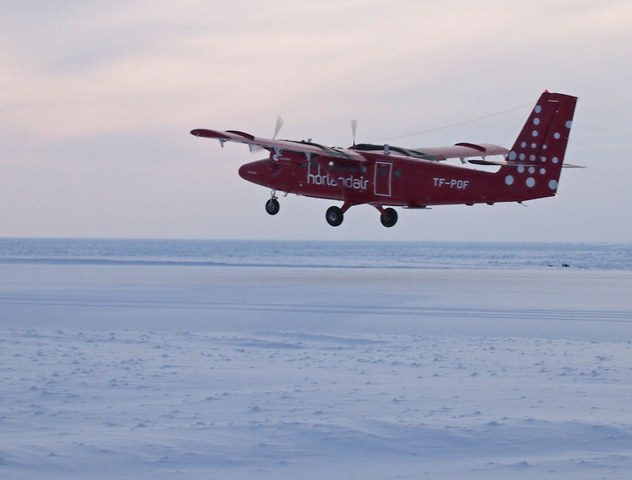 Twin Otter takes off