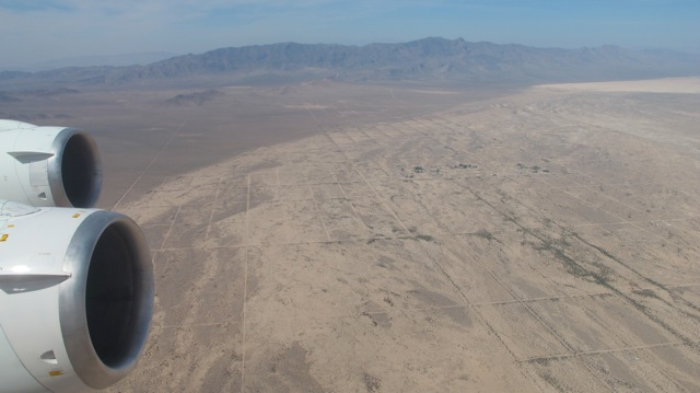 View of the Mojave Desert from the DC-8