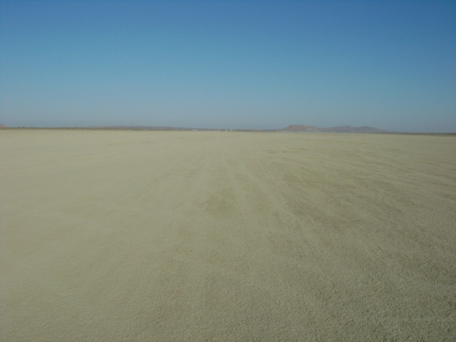 The El Mirage dry lake in the Mojave Desert