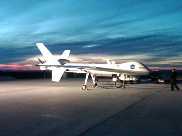 NASA's Ikhana uninhabited aerial vehicle, one of the many aircraft that NASA's technicians keep in top condition.
