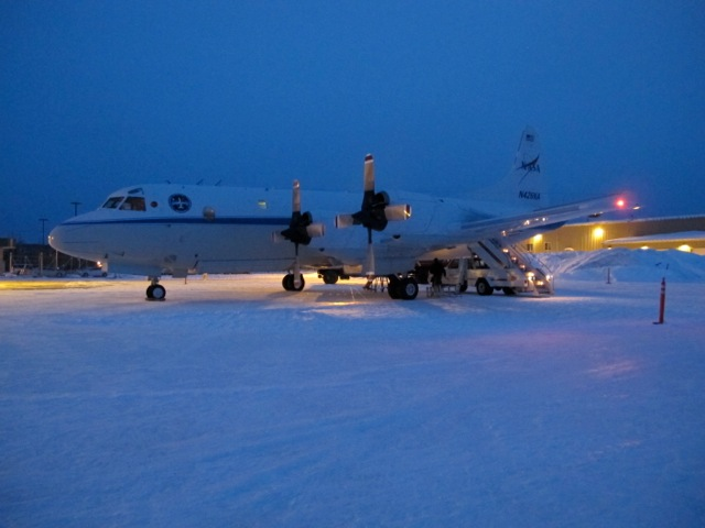 The NASA P-3B on the ramp at Fairbanks, Alaska.