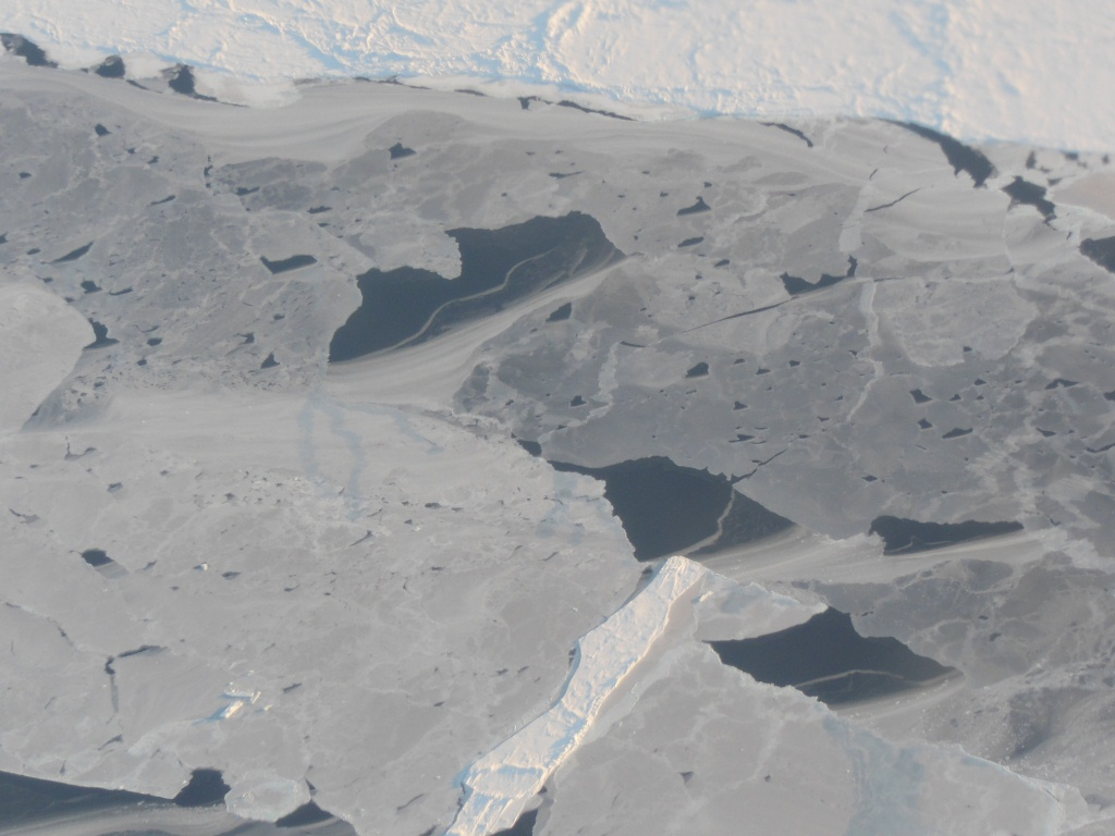 View of a sea ice lead from the NASA P-3B.
