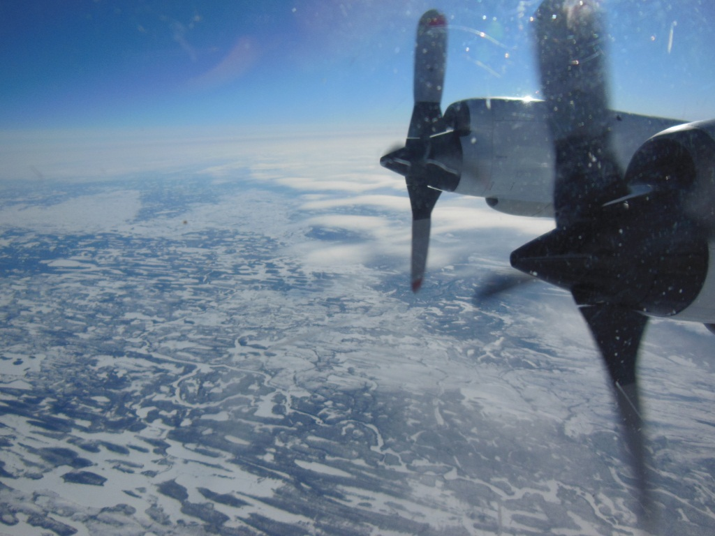 A view of ice from NASA's P-3B airborne laboratory.