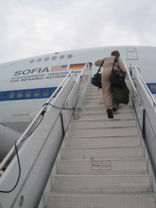 Boarding SOFIA for flight observations