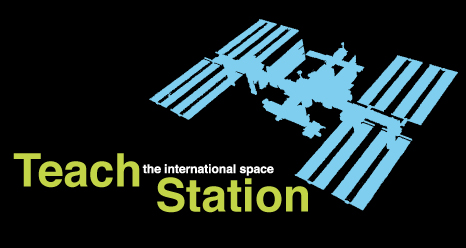 The Teach Station logo with a silhouette of the International Space Station