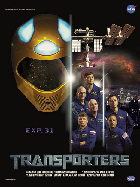 Expedition 31 crew poster with Robonaut 2