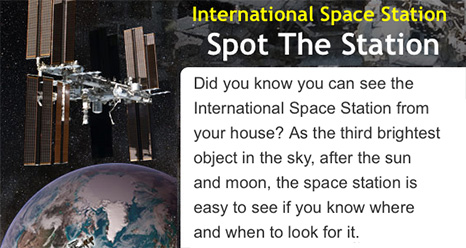 The International Space Station above Earth