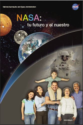 NASA y Tú poster with Spanish text