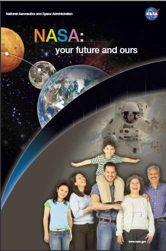 NASA and You poster with English text