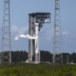 Atlas V rolled out of the VIF at Pad 41 for a wet dress rehearsal, for the upcoming launch of OSIRIS-REx.