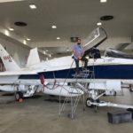 Gabriel Almeida and NASA aircraft
