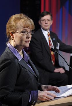 NASA Deputy Administrator Shana Dale at Future Forum, Columbus, Ohio, February 19, 2008