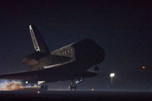 STS-123 Landing at Kennedy Space Center, March 26, 2008 (Credit: NASA)