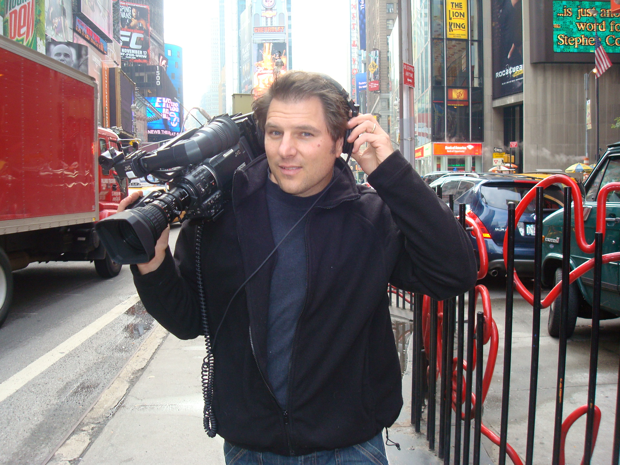 On location in Times Square