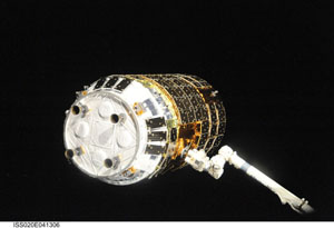 ISS020-E-041306 -- Japanese H-II Transfer Vehicle (HTV)