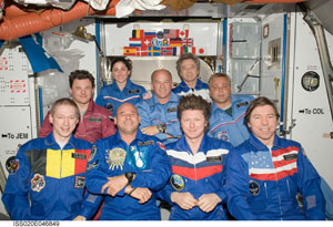 ISS020-E-046849 -- Crew members on the International Space Station