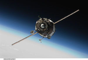 ISS020-E-043931 -- Soyuz TMA-16 spacecraft
